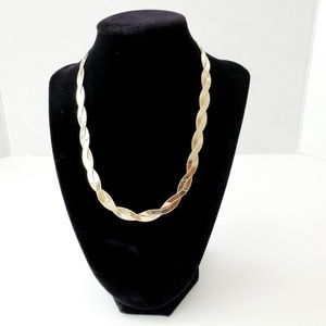 Milor Italy 925 SS Gold Vermeil Necklace - 18 Inch